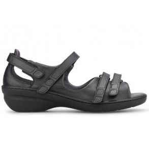 b1ef119a292 New Feet 101-92 sandal i sort kalveskind.